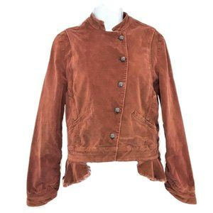 Free People Victorian Military Velvet Jacket Small
